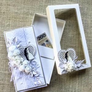 015 Kartka na ślub w pudełku.