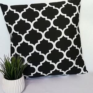 Poduszka dekoracyjna, czarne maroko,40x40cm.