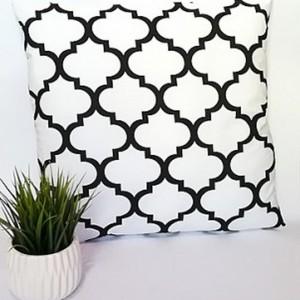 Poduszka dekoracyjna, biały maroko,40x40cm.
