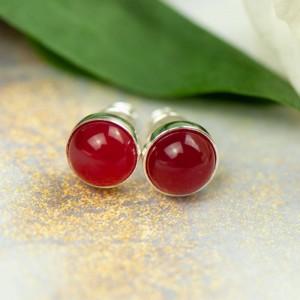 Kolczyki drobinki z czerwonym agatem Carmen d106