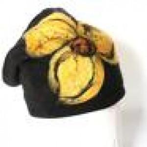 czapka wełniana szara handmade zimowa
