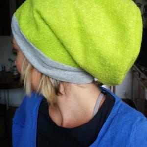 czapka damska zielona smerfetka