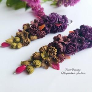 Jesienne kolczyki z kwiatami