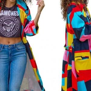płaszcz kolorowy energetyczny damski rozmiar M