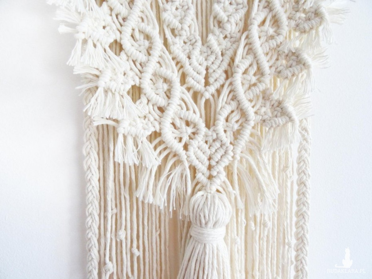 Makrama na ścianę, ozdoba na wesele