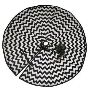 Dywanik, spódnica pod choinkę-czarno biała