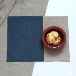Podkładki pod talerze - szaroniebieski z beżowym