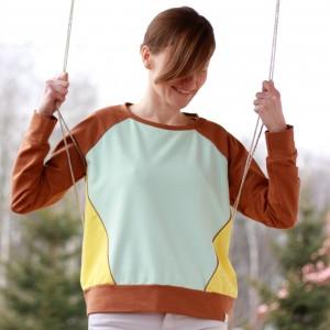 Bluza bawełniana oversize - mięta