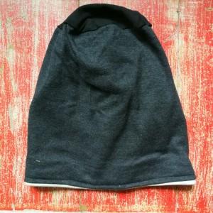czapka unisex damska męska grafit z czernią
