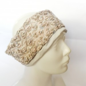 opaska damska podwójna azurowa   handmade