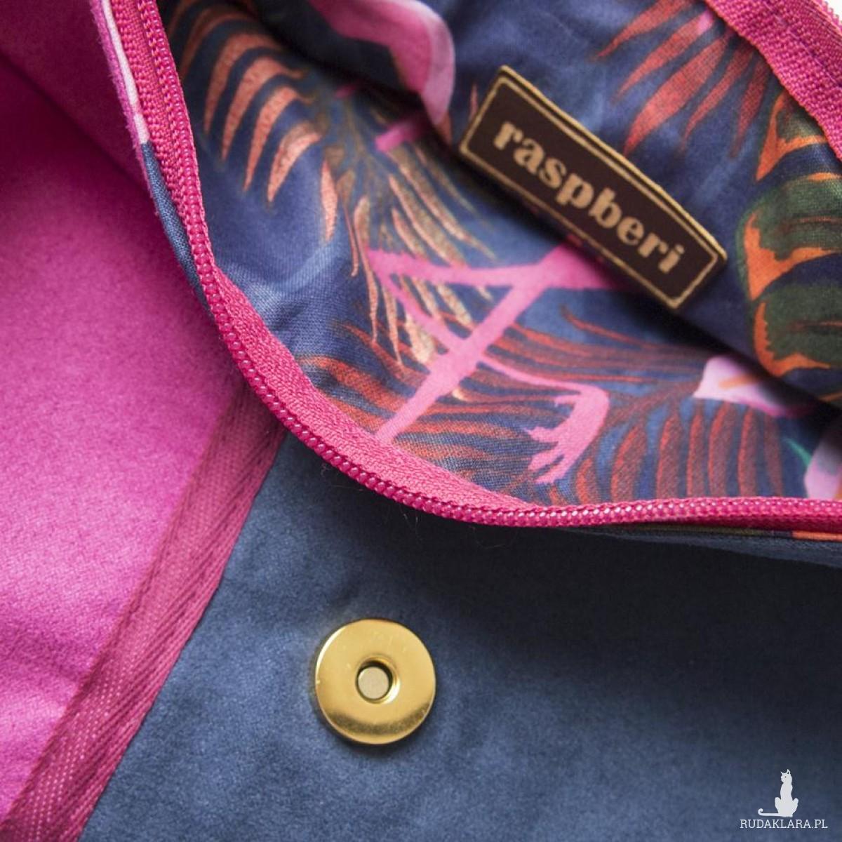 Składana torebka na łańcuszku z haftem