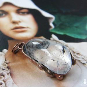 Naszyjnik: wisiorek kryształ górski na łańcuszku