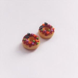 kolczyki donuty halloween