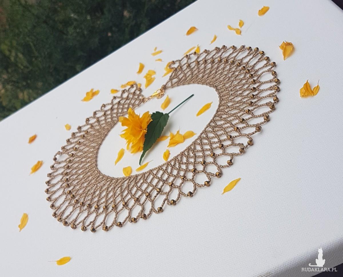 Naszyjnik, krywulka z kryształkami