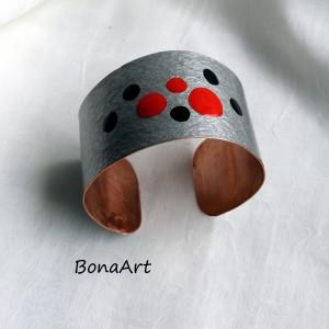 """Bransoleta """"Minimalistyczna"""" ręcznie malowana"""