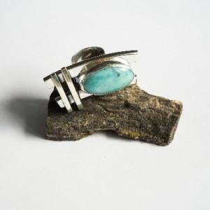 Srebrny pierścionek z amazonitem