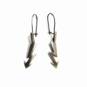 Błyskawice - kolczyki srebrne
