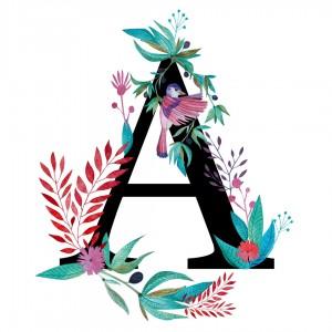 Alfabet litera A 50x70