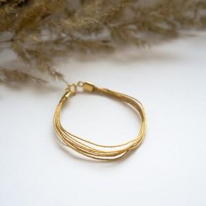 Pozłacana bransoletka bardzo delikatna minimalistyczna