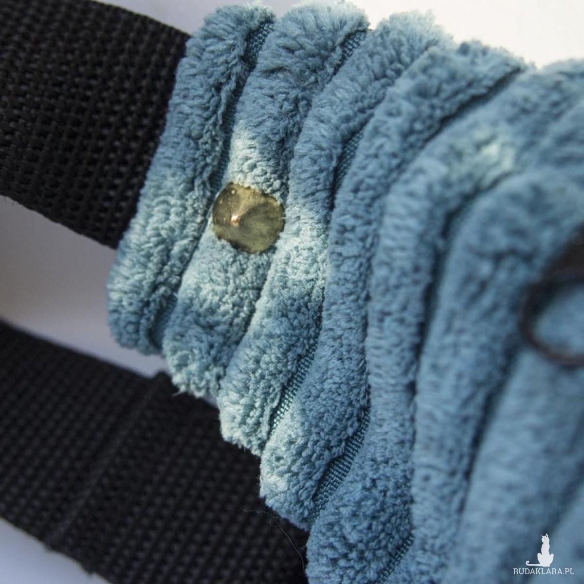Niebieska sztruksowa nerka XL