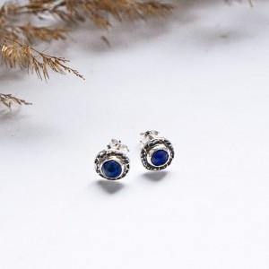 Kolczyki wkrętki lapsi lazuli idealne na prezent
