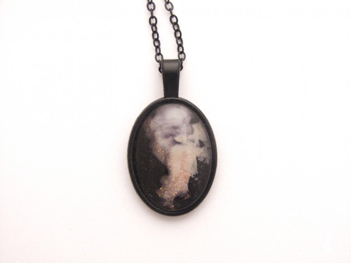 Naszyjnik w stylu pastel goth - nebula
