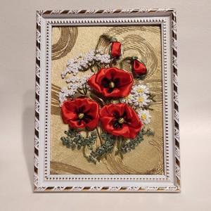 Wstążką malowane - Polne kwiaty