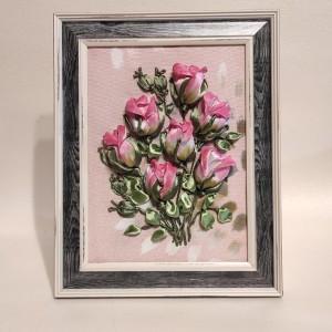 Wstążką malowane - Bukiecik różyczek