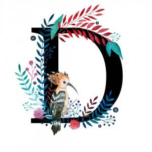 Alfabet litera D 50x70