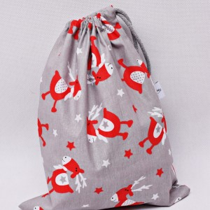 Worek na prezenty worek świąteczny, worek prezentowy, opakowanie na prezent renifery rozm M