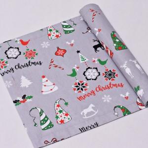 Bieżnik świąteczny, serweta na świąteczny stół, bieżnik bawełniany na święta
