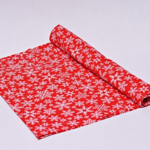 Bieżnik świąteczny, serweta na świąteczny stół, bieżnik bawełniany na święta śnieżki