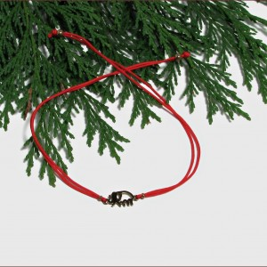 SŁONIK  bransoletka  na sznureczku