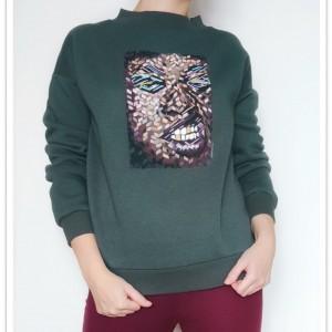 Ręcznie malowana bluza abstrakcja