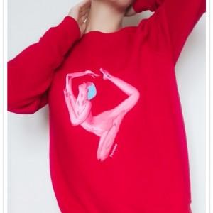 Ręcznie malowana bluza Sensuality