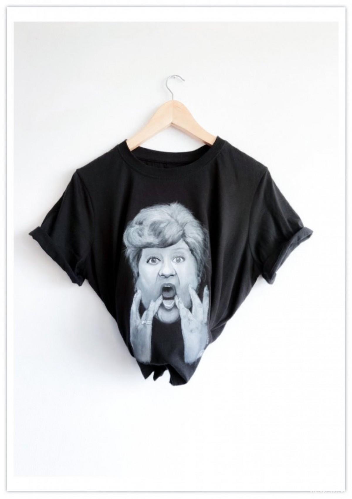 Ręcznie malowana koszulka Danuta Rinn