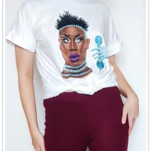 Ręcznie malowana koszulka Drag Queen