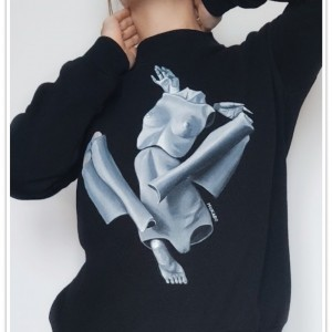 Ręcznie malowana bluza Popovy Sisters