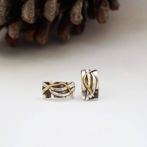Srebrne kolczyki ze złoceniem. Idealne na prezent
