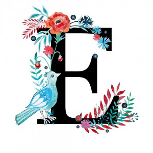 Alfabet litera E 50x70