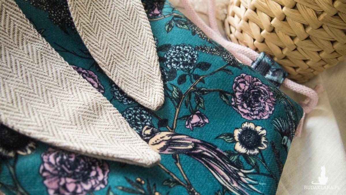 Mini plecak króliczek w kwiaty i ptaki