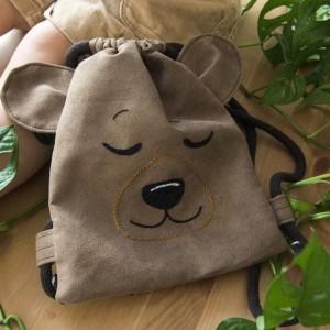 Mini plecak śpiący brązowy miś