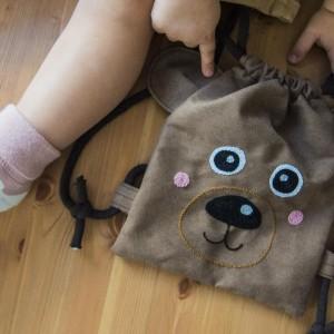 Mini plecak brązowy miś