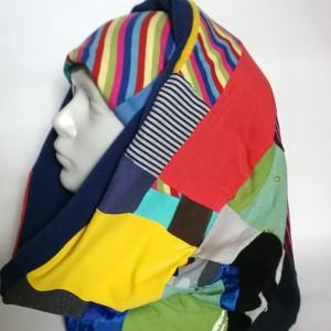 Komplet patchworkowy kolorowy