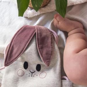 Mini plecak króliczek w jodełkę