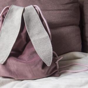 Plecak królik różowy velvet