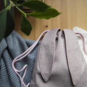 Plecak królik pudrowy róż