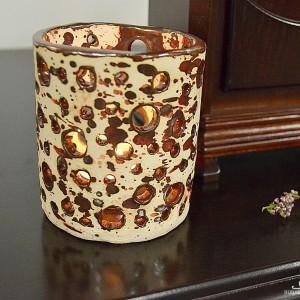 Świecznik ceramiczny/ przybornik