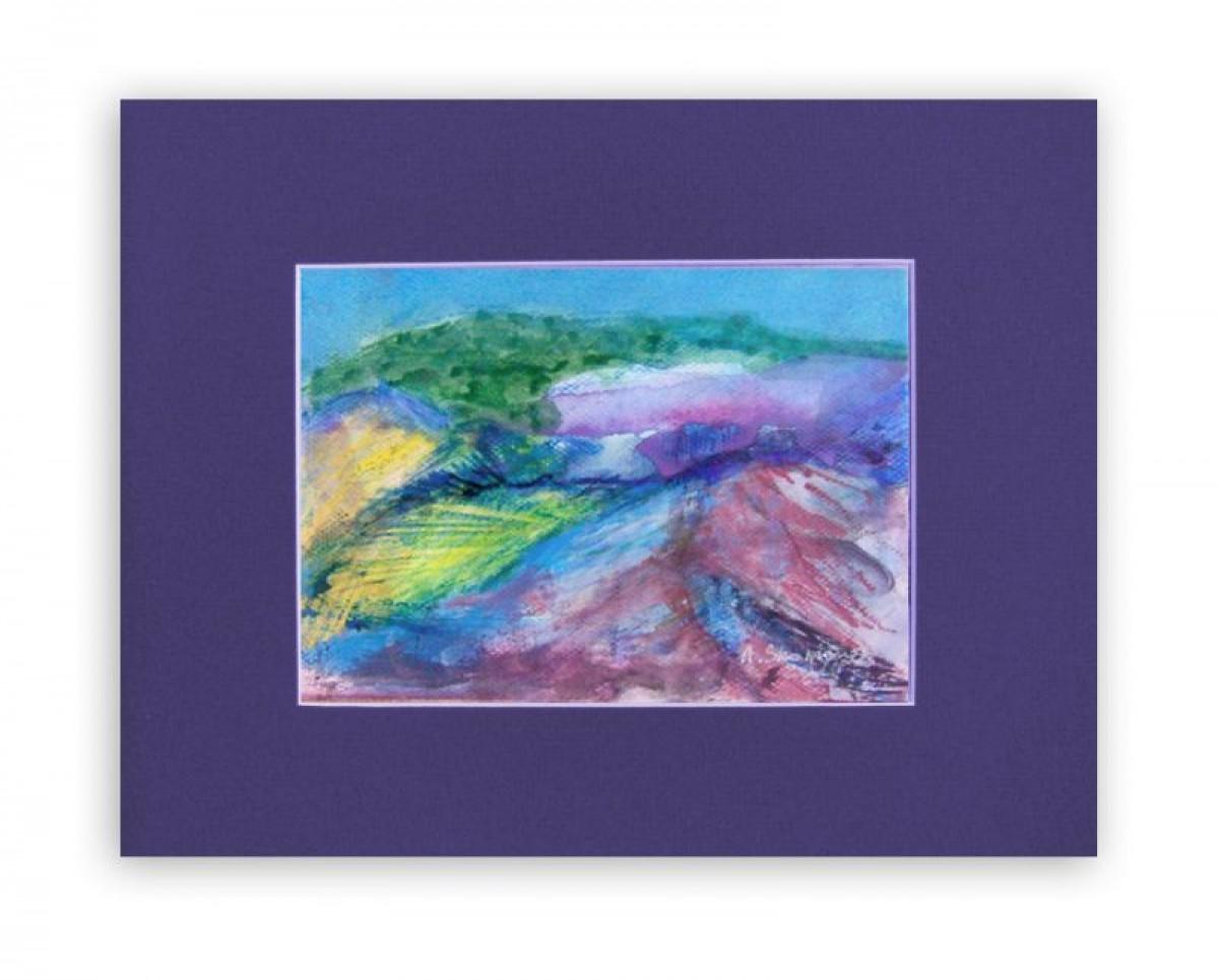 Krajobraz górski szkic,obrazek z pejzażem górskim,nowoczesny obrazek do pokoju
