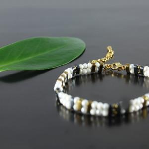 Nowoczesna bransoletka z małych pereł naturalnych